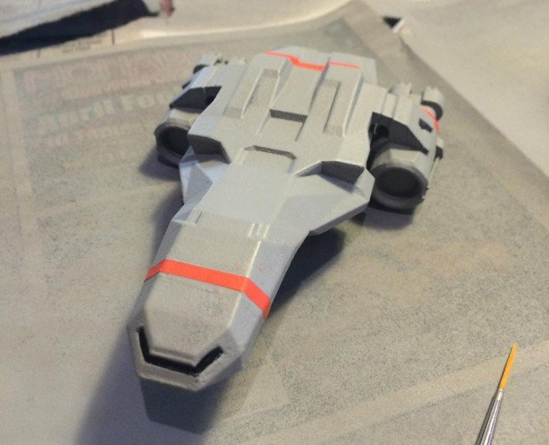 ftl faster than light kestrel 3d printed model by thelobsterclaw 5 620x503