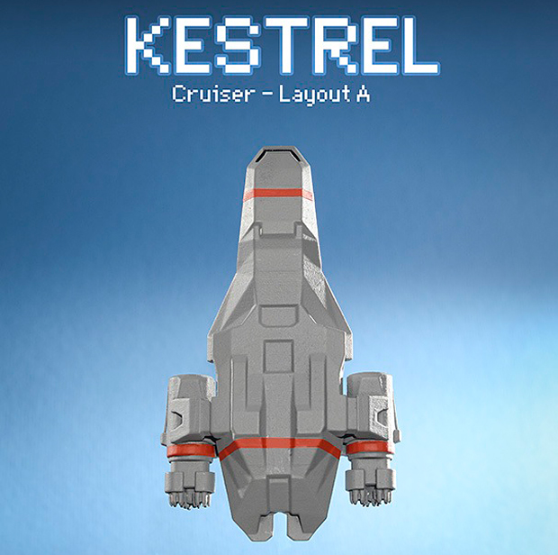 ftl faster than light kestrel 3d printed model by thelobsterclaw