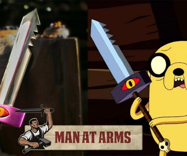 Man at Arms Makes Jake's Sword from Adventure Time