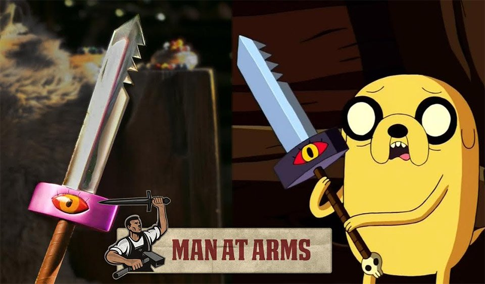 Man at Arms espada de Jake de adventure time