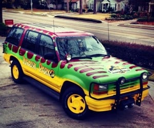 Guy Builds Jurassic Park Ford Explorer: Do-you-think-he-saurus?