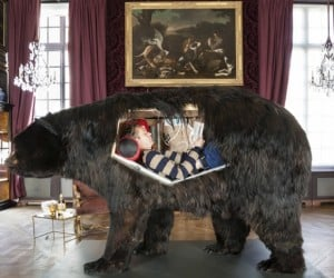 French Artist Is Living Inside a Bear for 13 Days, Grins, Bears It