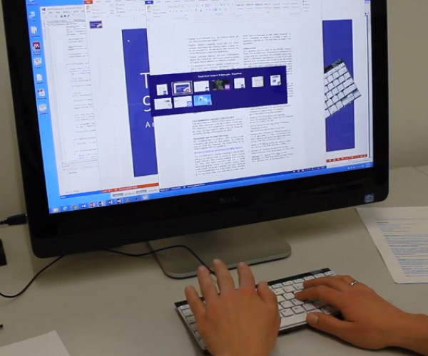 Microsoft Gesture-Sensing Keyboard Concept: Type & Swipe