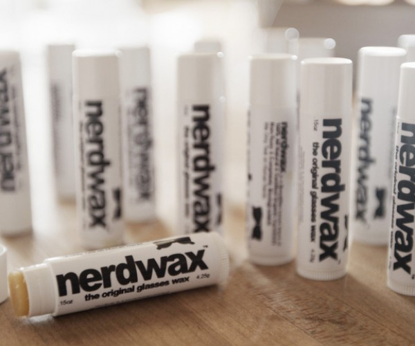 Nerdwax Keeps Your Glasses from Sliding off: Wax on, Glass on
