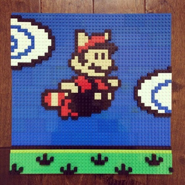 nesbrick lego nes game wall art by brian stark 620x620