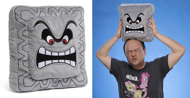 nintendo thwomp pillow by thinkgeek 620x319