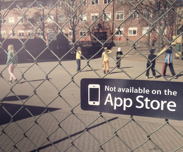 Not on App Store Sticker: You'd Have to Look up from Your Gadget to See It Though
