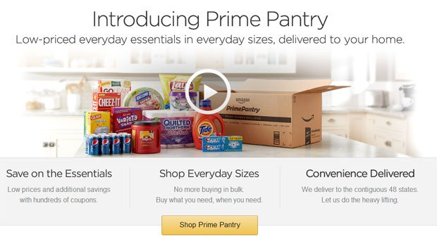 Amazon Launches Prime Pantry to Save you from the Grocery Store