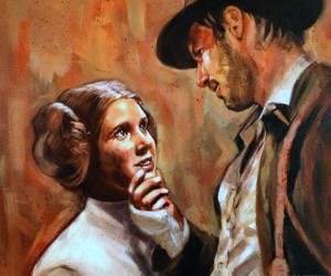 Princess Leia Falls for Indiana Jones