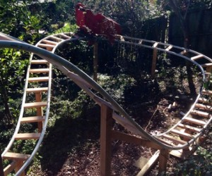 Guy Building a Roller Coaster in His Backyard
