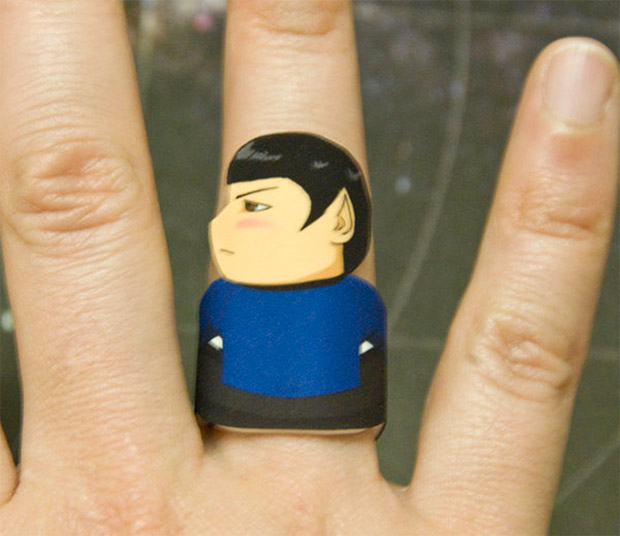star trek ring spock