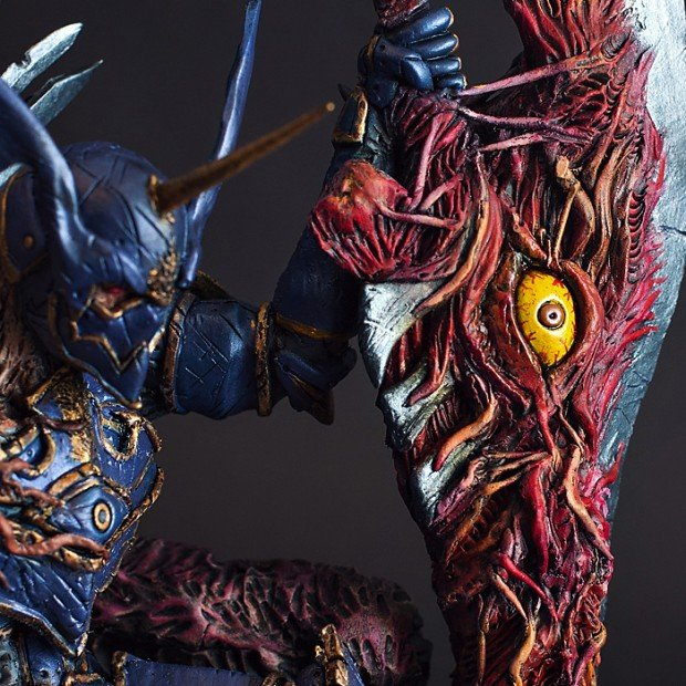 throne of souls soul calibur nightmare statue by hector a arce 2 620x620