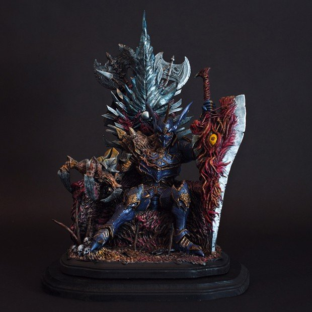 throne of souls soul calibur nightmare statue by hector a arce 620x620