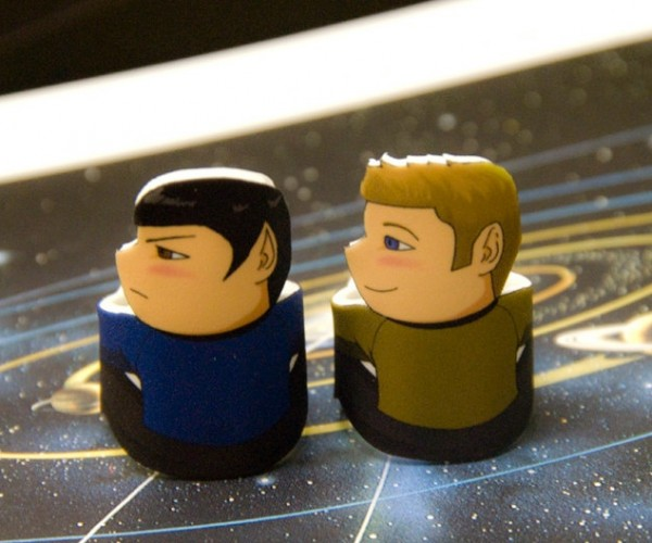 Spock and Kirk Rings Perfect for Doing the Vulcan Salute