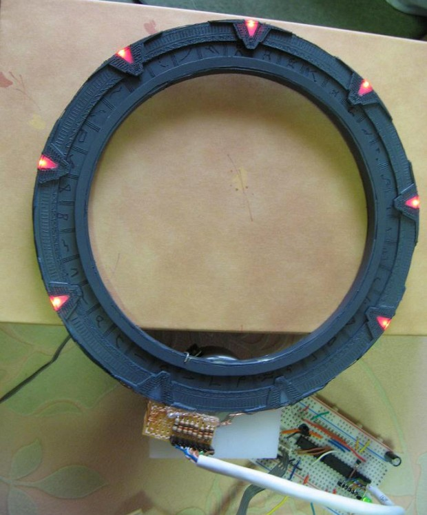 This Model Stargate Spins and Lights up
