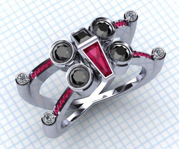 X-Wing and Tie Fighter Engagement Rings: Love is a Battlefield