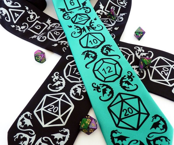 RPG Dice Tie Deals a Critical Hit to Your Wardrobe