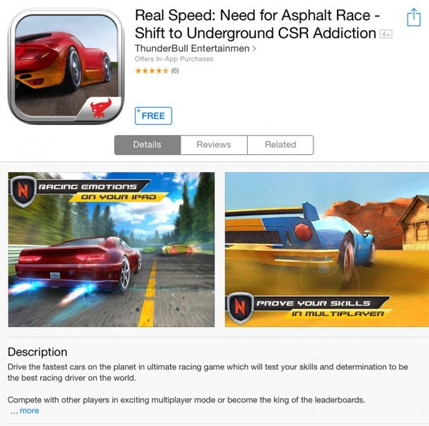 Real Speed Need for Asphalt Race Shift to Underground CSR Addiction ios game 620x616