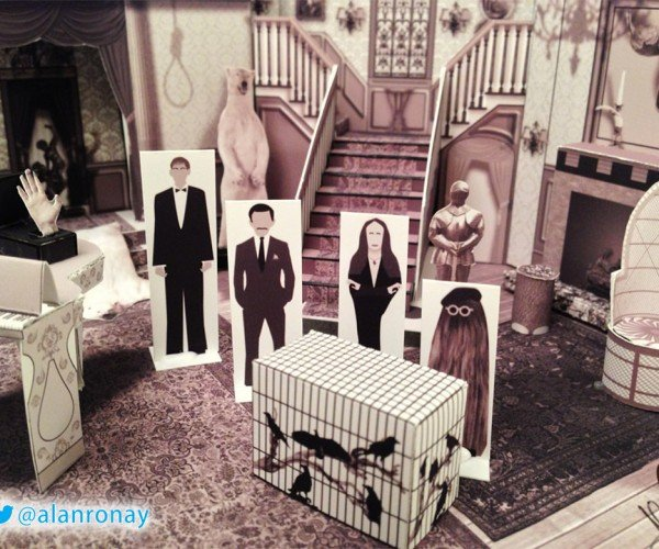 The Addams Family Papercraft House: They're Creepy and They're Crafty