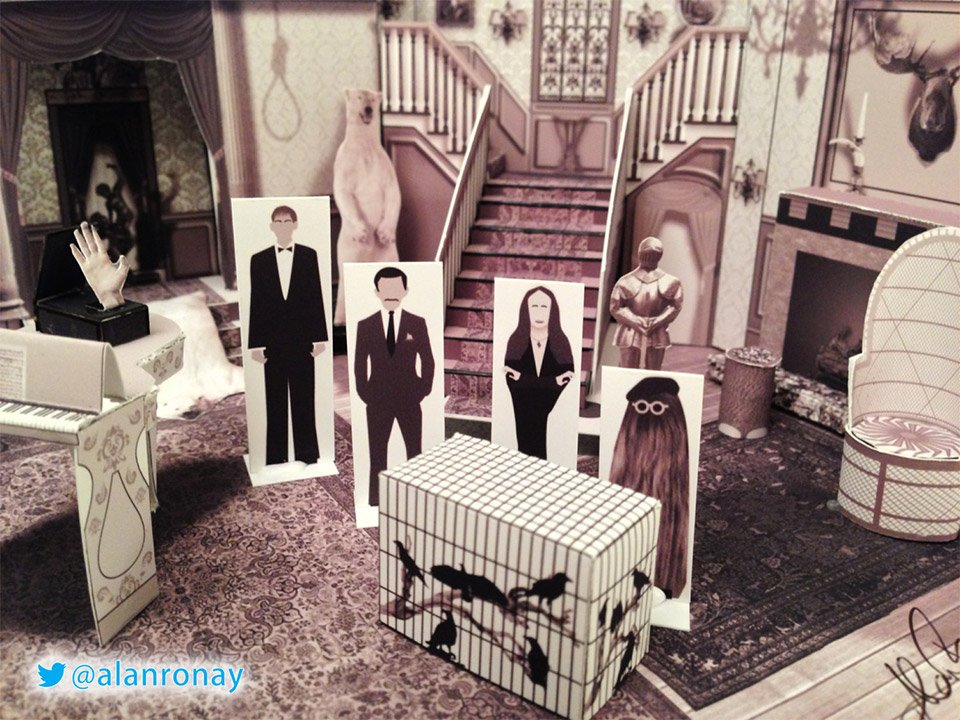 the addams family papercraft house: they're creepy and they're