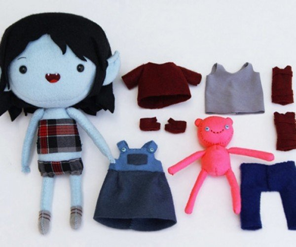 Adorable Adventure Time Plush Dress-up Dolls: Oh, My Glob!