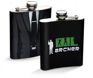 Archer Suit Flask Has a Lid That Won't Slip off For Like No Reason