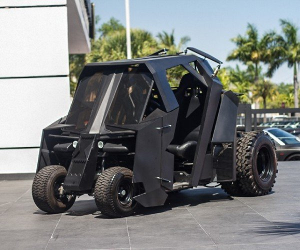 Mini Batman Tumbler Now for Sale: the Golf Cart You Deserve