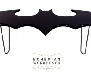 Batman Coffee Table: Don't Be a Joker, Use a Coaster
