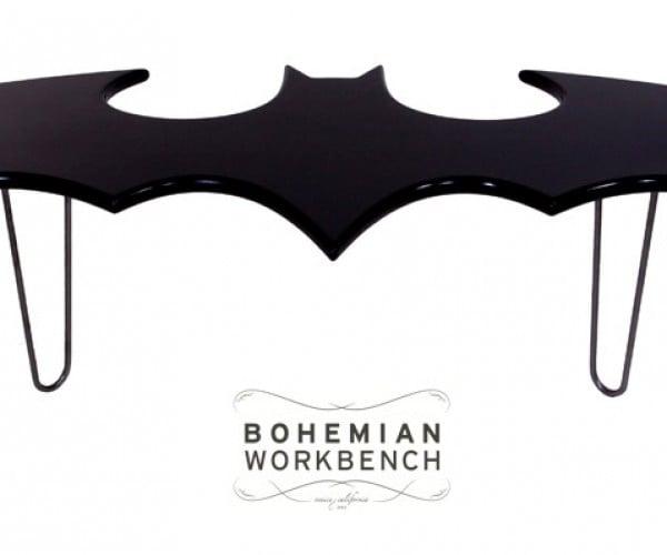Batman Coffee Table: Don't Be a Joker, Use a Coaster