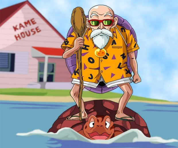 dragon ball master roshi beach shirt 3 620x517