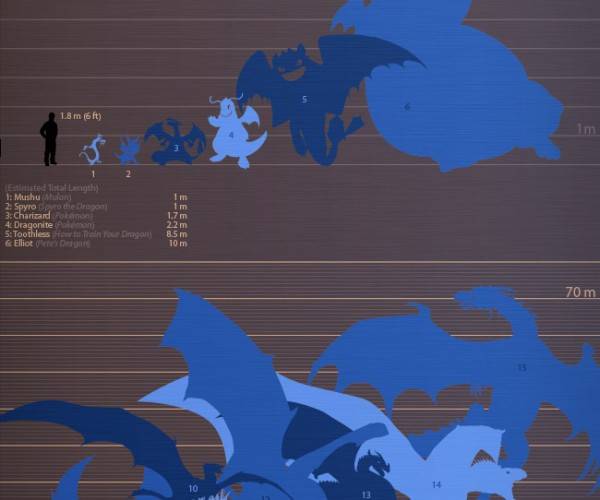 The Dragon Size Comparison Chart