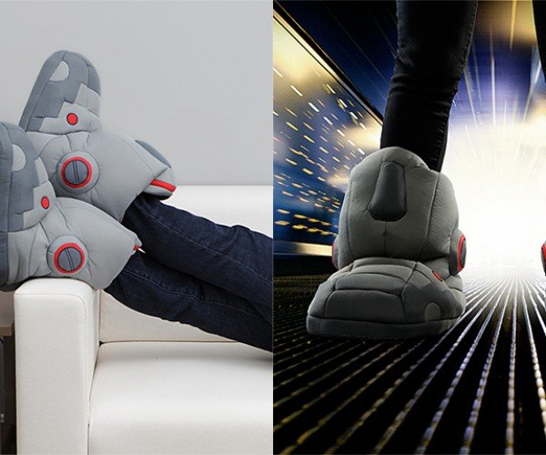 Giant Robot Slippers with Sound Effects: Stomp in Comfort