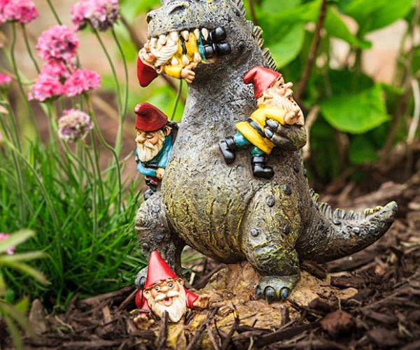 Garden Gnome-Eating Kaiju Is Your Garden Protector