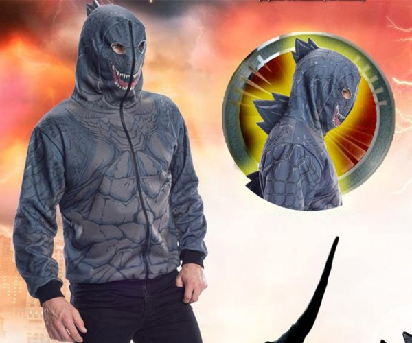 Go on a Rampage with This Godzilla Hoodie