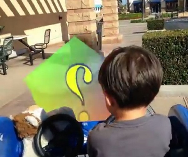 Action Movie Kid Plays Mario Grocery Kart