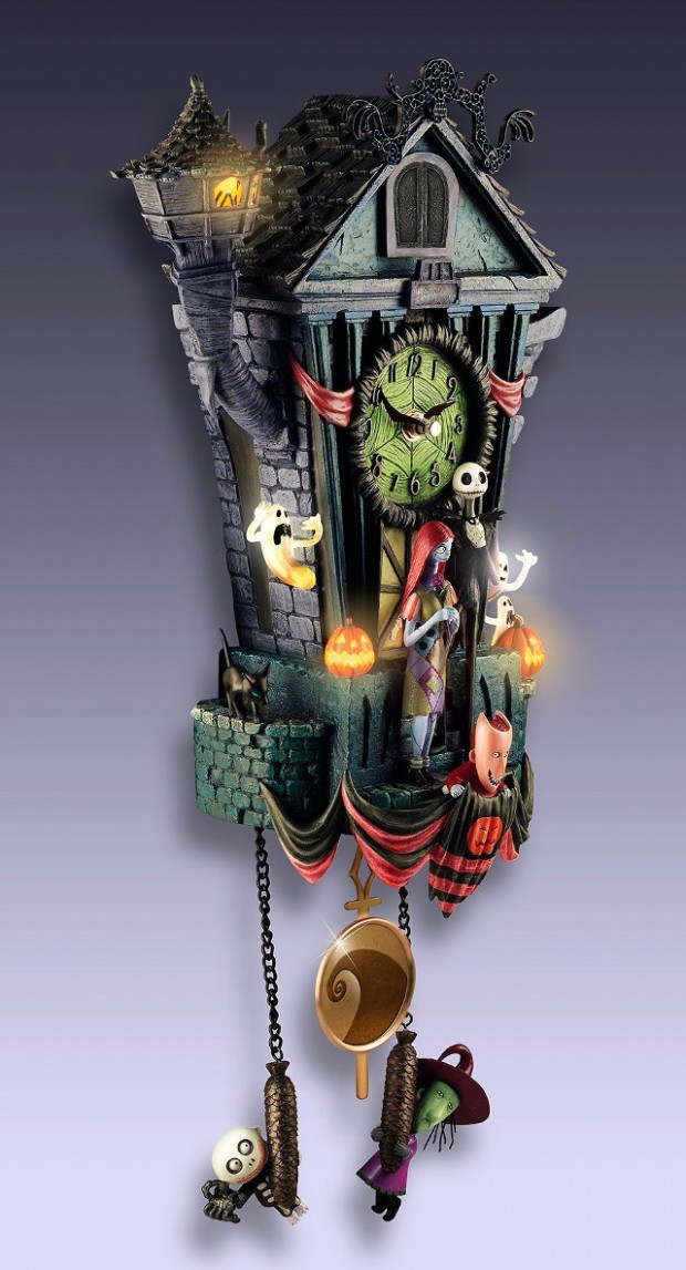 nightmare before christmas clock 620x1147