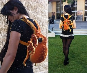 Plush Octopus Backpack Is Very Clingy