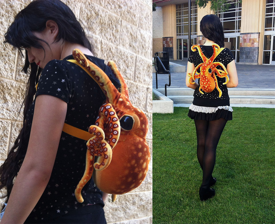 Plush Octopus Backpack Is Very Clingy - Technabob