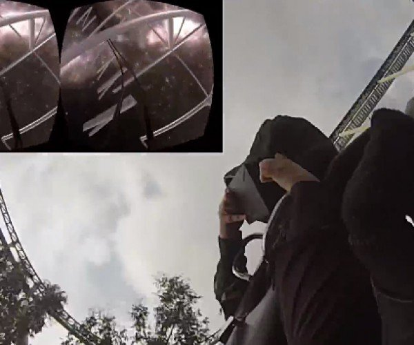 Man Wears Oculus Rift on Roller Coaster: Is This the Real Life? Is This Just Fantasy?