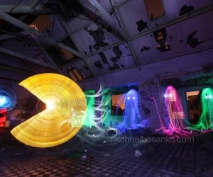 Pac-Man Light Painting Is Driving Me Crazy