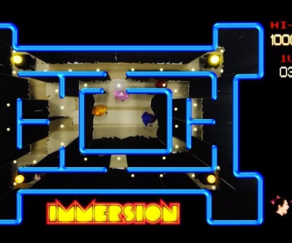 Playing Pac-Man with a Top-down View in Real Life