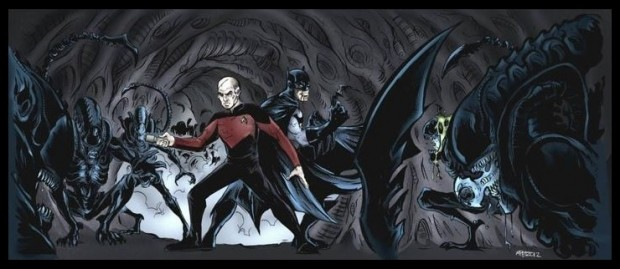 picard batman aliens
