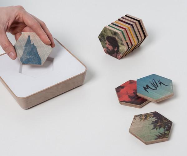 Qleek Uses Wooden Pucks to Share Online Content: Mixtape 2.0