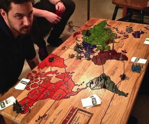 Risk Board Game Coffee Table: World Domination at Your Feet