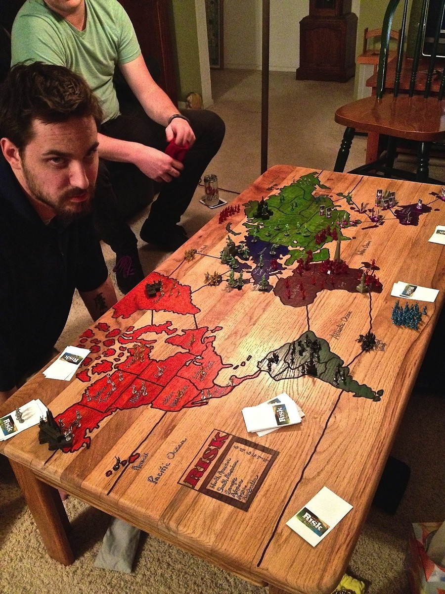 Risk Board Game Coffee Table: World Domination at Your Feet - Technabob
