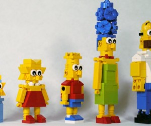 Skip the Minifigs and Make the Simpsons out of LEGO Bricks