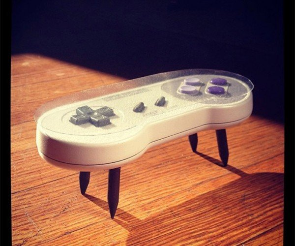 SNES Controller Coffee Table: Get Your Feet off My Gamepad!
