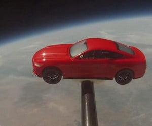 Ford Sends 2015 Mustang 110,000 Feet into the Air (Sorta.)