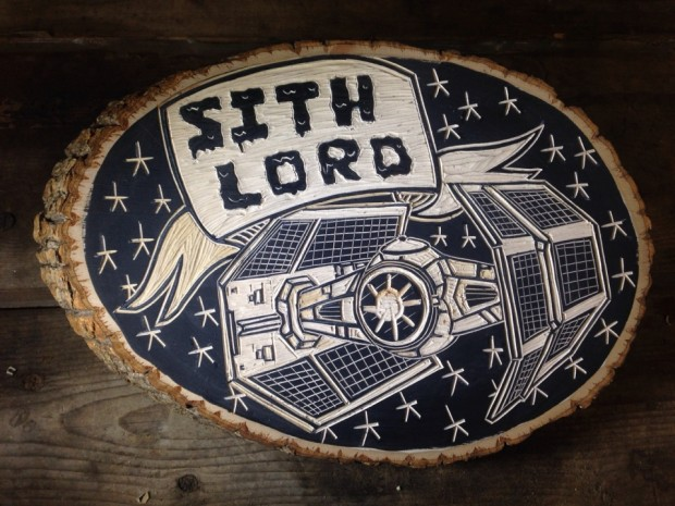 star wars woodcuts