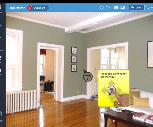TapPainter: See What Your Room Looks Life Before You Paint It